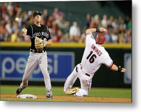 Double Play Metal Print featuring the photograph Dj Lemahieu and Chris Owings by Christian Petersen