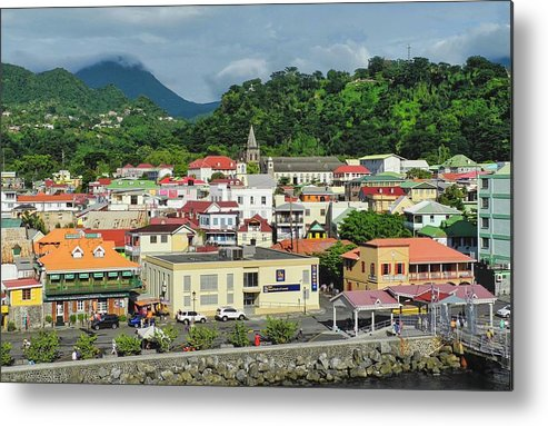Dominica Metal Print featuring the photograph Dominica Island Waterfront by Kirsten Giving