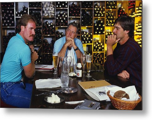 1980-1989 Metal Print featuring the photograph Don Mattingly, Ted Williams, and Wade Boggs by Ronald C. Modra/sports Imagery