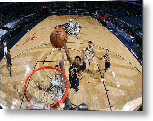 Smoothie King Center Metal Print featuring the photograph Donovan Mitchell by Layne Murdoch Jr.