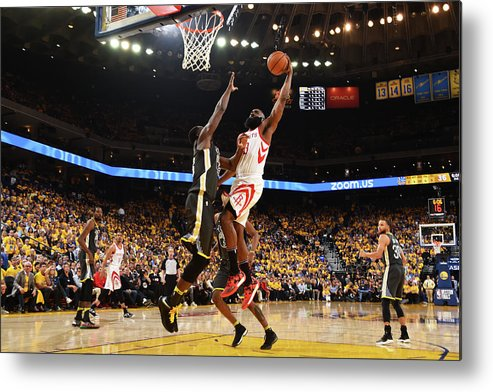 Playoffs Metal Print featuring the photograph Draymond Green and James Harden by Andrew D. Bernstein