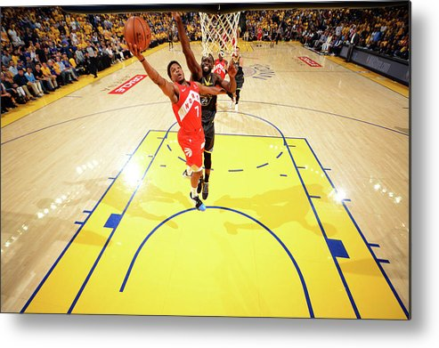 Playoffs Metal Print featuring the photograph Draymond Green and Kyle Lowry by Jesse D. Garrabrant