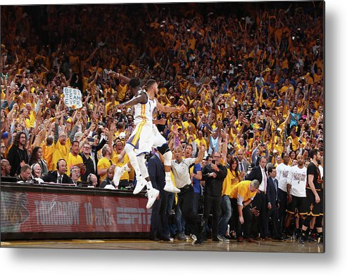 Playoffs Metal Print featuring the photograph Draymond Green and Stephen Curry by Nathaniel S. Butler