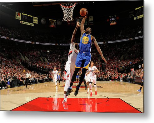 Playoffs Metal Print featuring the photograph Draymond Green by Cameron Browne