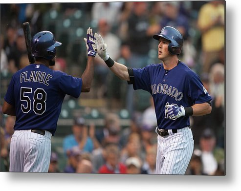 Three Quarter Length Metal Print featuring the photograph Drew Stubbs and Andrew Heaney by Dustin Bradford