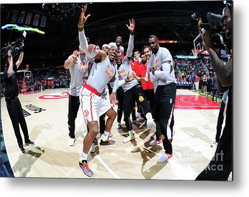 Atlanta Metal Print featuring the photograph Dwight Howard and Paul Millsap by Scott Cunningham