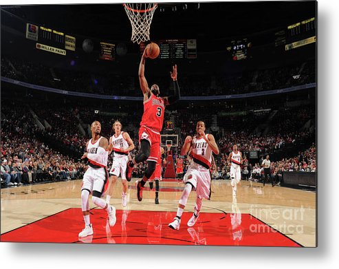 Nba Pro Basketball Metal Print featuring the photograph Dwyane Wade by Cameron Browne