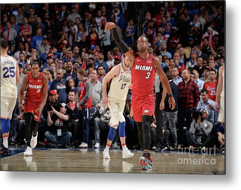 Playoffs Metal Print featuring the photograph Dwyane Wade by David Dow