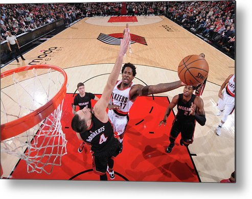 Nba Pro Basketball Metal Print featuring the photograph Ed Davis by Sam Forencich