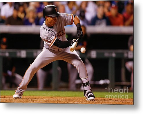 American League Baseball Metal Print featuring the photograph Ehire Adrianza by Justin Edmonds