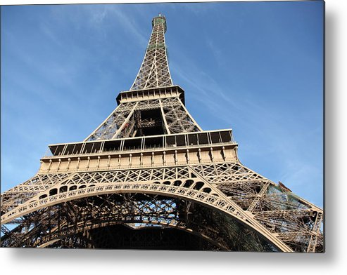 Directly Below Metal Print featuring the photograph Eiffel Tower, Paris by Pejft