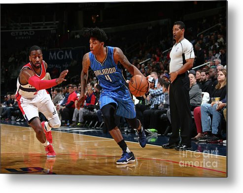 Nba Pro Basketball Metal Print featuring the photograph Elfrid Payton by Ned Dishman