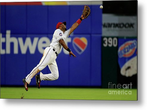 People Metal Print featuring the photograph Elvis Andrus and Manny Machado by Ron Jenkins
