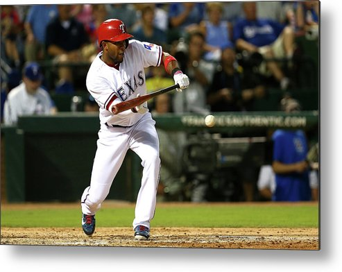 People Metal Print featuring the photograph Elvis Andrus by Sarah Crabill
