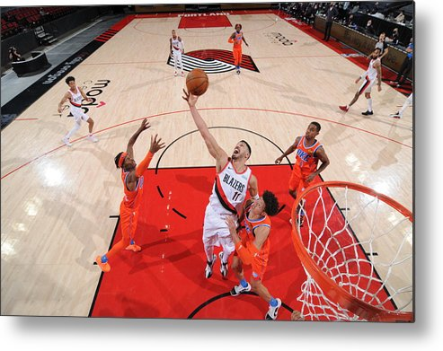 Nba Pro Basketball Metal Print featuring the photograph Enes Kanter by Cameron Browne