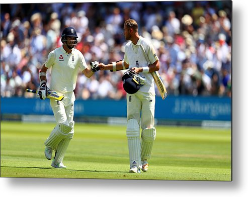 International Match Metal Print featuring the photograph England v South Africa - 1st Investec Test: Day Two by Clive Rose