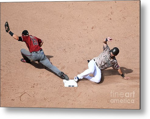 People Metal Print featuring the photograph Eric Hosmer and Nick Ahmed by Andy Hayt