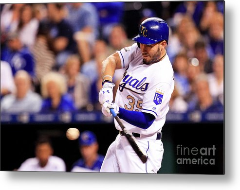Three Quarter Length Metal Print featuring the photograph Eric Hosmer by Brian Davidson