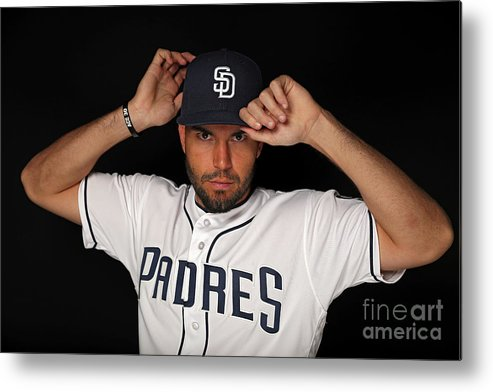 Media Day Metal Print featuring the photograph Eric Hosmer by Patrick Smith
