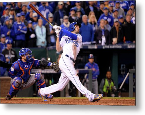 Playoffs Metal Print featuring the photograph Eric Hosmer by Ron Vesely