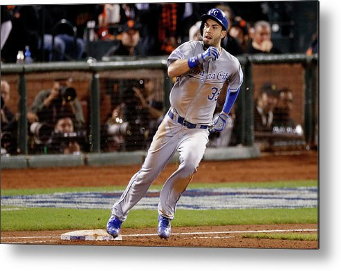 San Francisco Metal Print featuring the photograph Eric Hosmer by Thearon W. Henderson