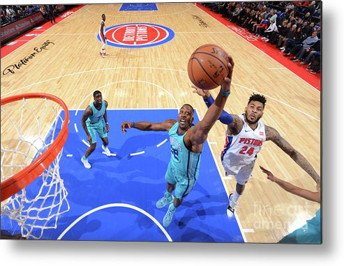 Nba Pro Basketball Metal Print featuring the photograph Eric Moreland and Dwight Howard by Jesse D. Garrabrant