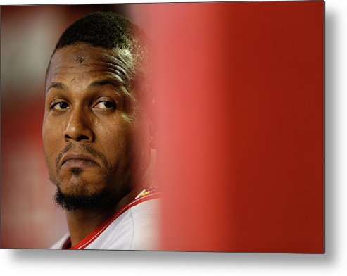 People Metal Print featuring the photograph Erick Aybar by Christian Petersen