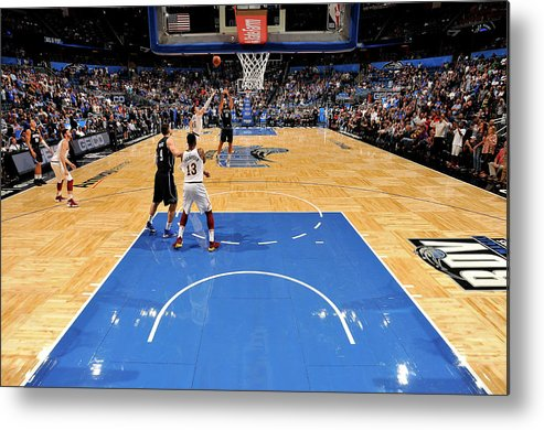 Nba Pro Basketball Metal Print featuring the photograph Evan Fournier by Fernando Medina