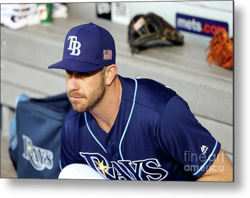 People Metal Print featuring the photograph Evan Longoria by Alex Trautwig