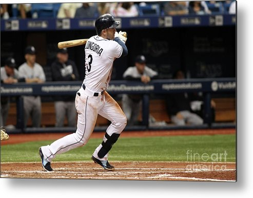 People Metal Print featuring the photograph Evan Longoria and Hank Conger by Brian Blanco