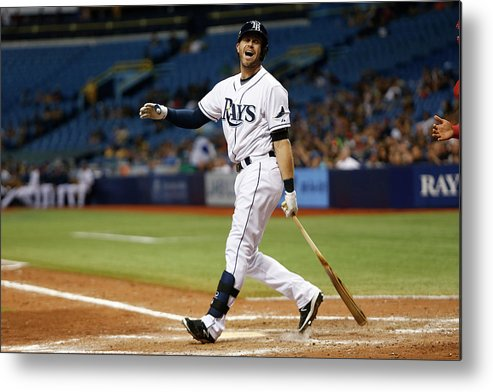 People Metal Print featuring the photograph Evan Longoria by Brian Blanco