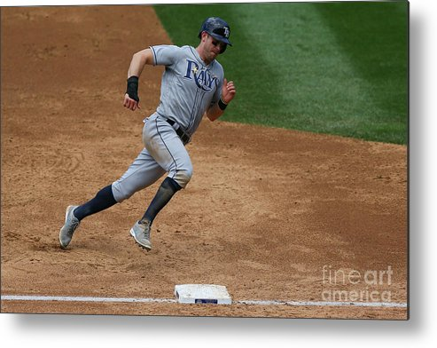 People Metal Print featuring the photograph Evan Longoria by Justin Edmonds
