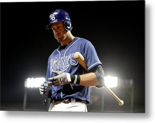 Ninth Inning Metal Print featuring the photograph Evan Longoria by Patrick Smith