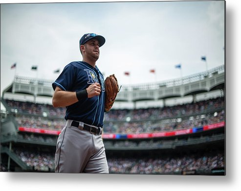 American League Baseball Metal Print featuring the photograph Evan Longoria by Rob Tringali