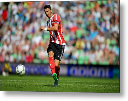 People Metal Print featuring the photograph FC Groningen v FC Southampton - Friendly Match by Christof Koepsel