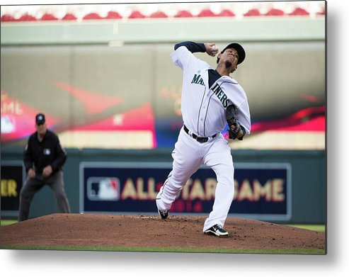 People Metal Print featuring the photograph Felix Hernandez by Ron Vesely
