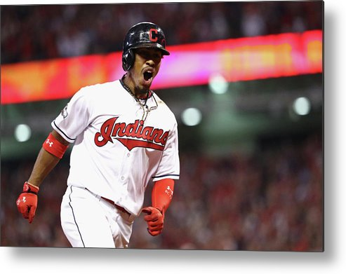 Three Quarter Length Metal Print featuring the photograph Francisco Lindor by Maddie Meyer