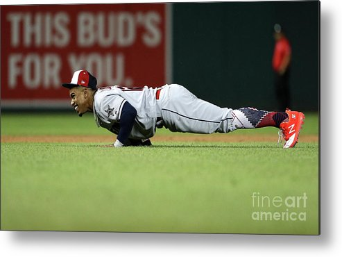 People Metal Print featuring the photograph Francisco Lindor by Patrick Smith