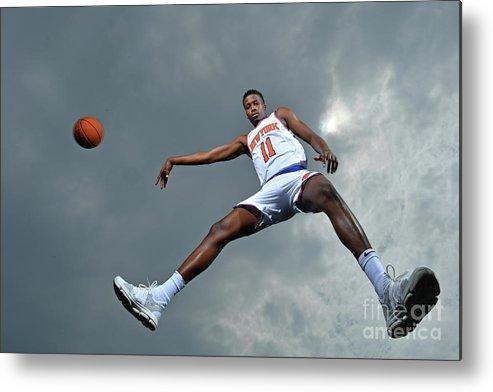 Nba Pro Basketball Metal Print featuring the photograph Frank Ntilikina by Jesse D. Garrabrant