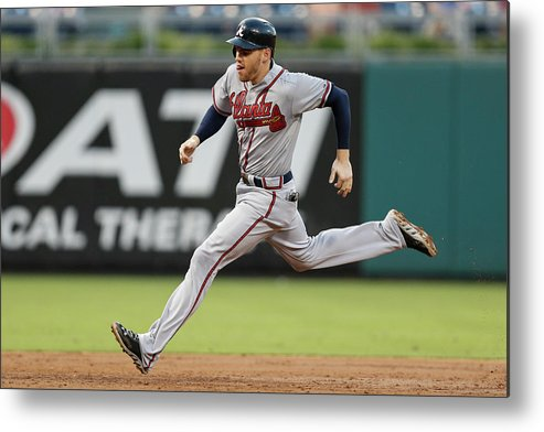Citizens Bank Park Metal Print featuring the photograph Freddie Freeman by Brian Garfinkel