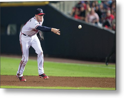 Atlanta Metal Print featuring the photograph Freddie Freeman by Mike Zarrilli