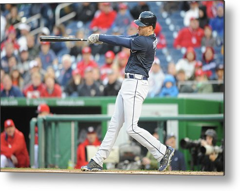 Motion Metal Print featuring the photograph Freddie Freeman by Mitchell Layton