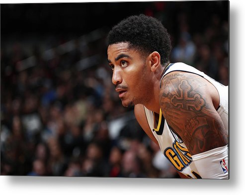 Nba Pro Basketball Metal Print featuring the photograph Gary Harris by Nathaniel S. Butler