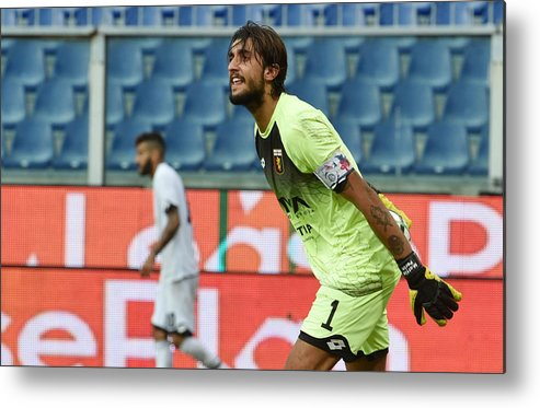 Three Quarter Length Metal Print featuring the photograph Genoa CFC v AC Cesena - TIM Cup by Paolo Rattini