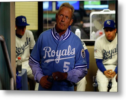 People Metal Print featuring the photograph George Brett by Ed Zurga