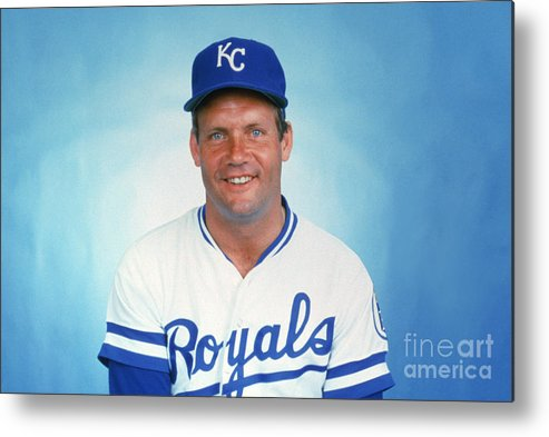 1980-1989 Metal Print featuring the photograph George Brett by Mlb Photos