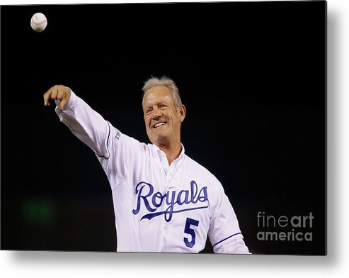 Game Two Metal Print featuring the photograph George Brett by Pool