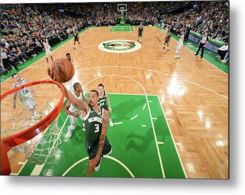 Playoffs Metal Print featuring the photograph George Hill by Brian Babineau
