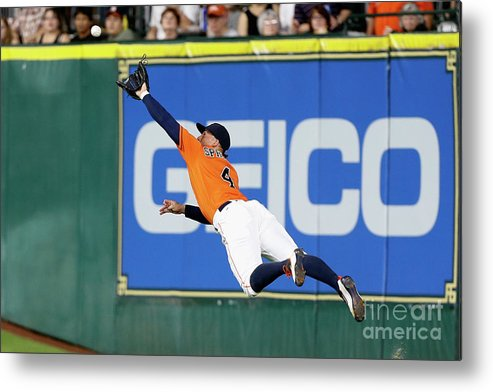 People Metal Print featuring the photograph George Springer and Adam Duvall by Bob Levey