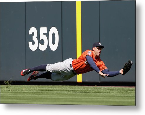 People Metal Print featuring the photograph George Springer and Dj Lemahieu by Doug Pensinger